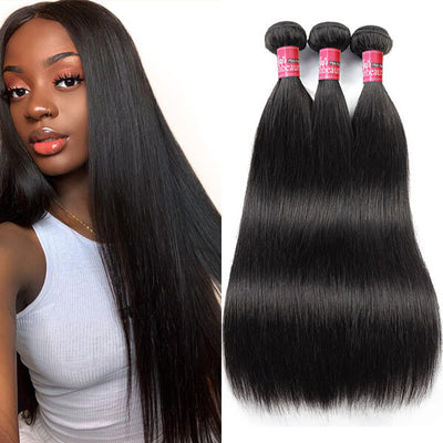 High Quality Virgin Straight Hair 100% Unprocessed Brazilian Human Hair Weave