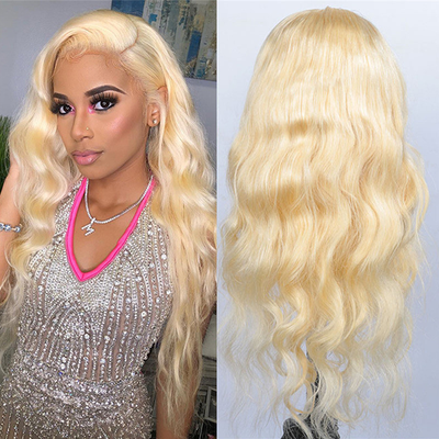 Body Wave Wigs 613 Color  Lace Front Wigs 613 Blonde 100% Virgin Human Hair Wig