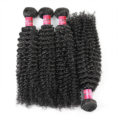 High Quality Brazilian Kinky Curls 4 Bundles Virgin Human Hair Jerry Curls