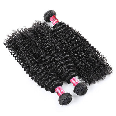 Peruvian Curly Virgin Hair 3 Bundles Kinky Curly Hair Weft