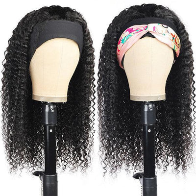 Curly Hair Headband Wigs For African American