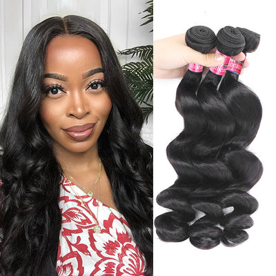 100% Raw Indian Virgin Human Hair 3 Bundles Virgin Loose Wave Hair Wave