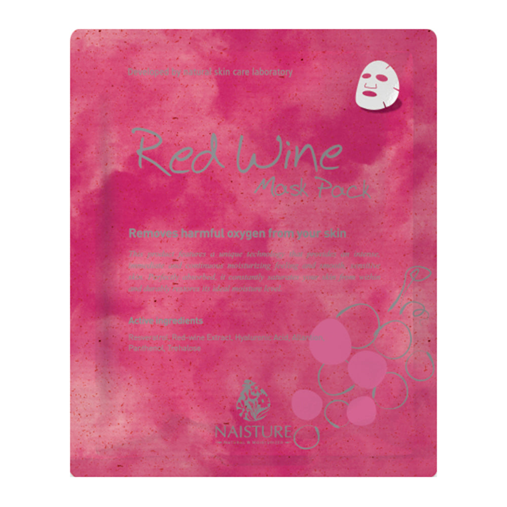 NAISTURE RED WINE MASK PACK (5 Sheets)