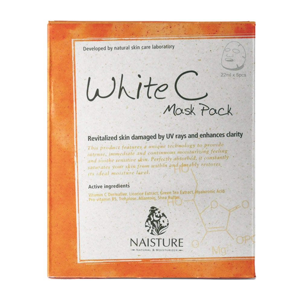 NAISTURE WHITE C MASK PACK (5 Sheets)