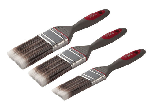 Kana Easy-Flo Soft Grip Brush Set 3 Piece