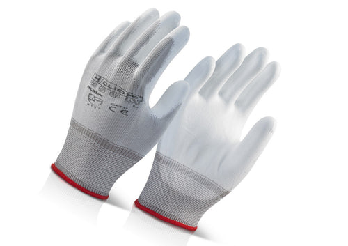 Painters Gloves PU Coated White Pack of 10