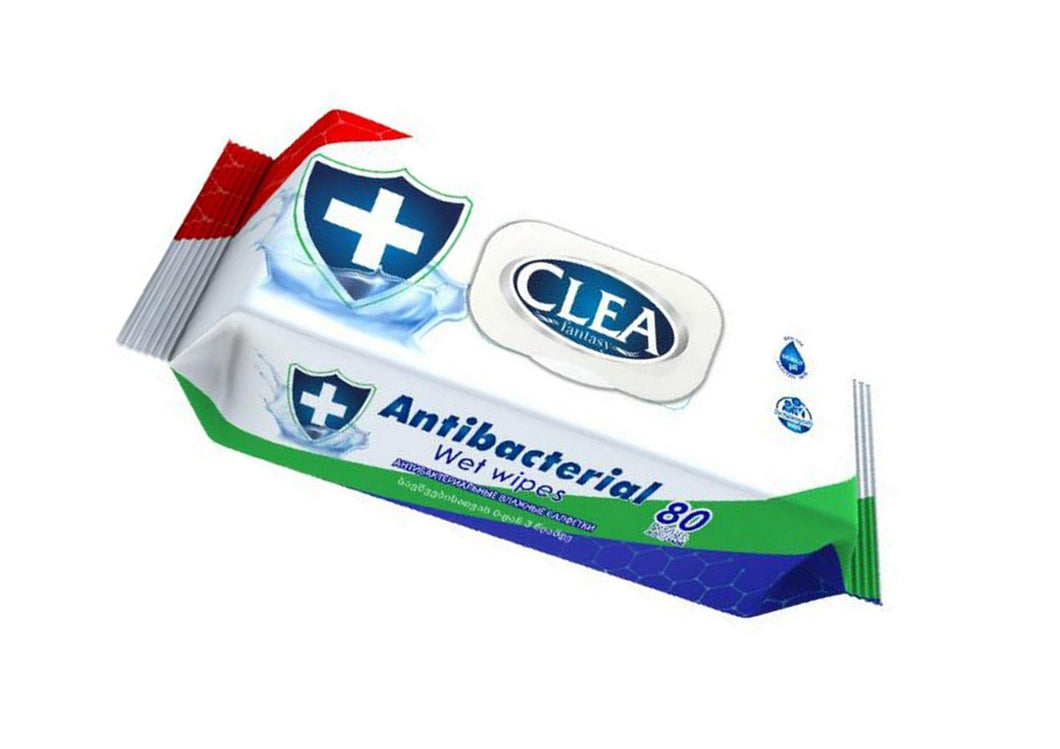 Anti Bacterial Wipes Pack of 80