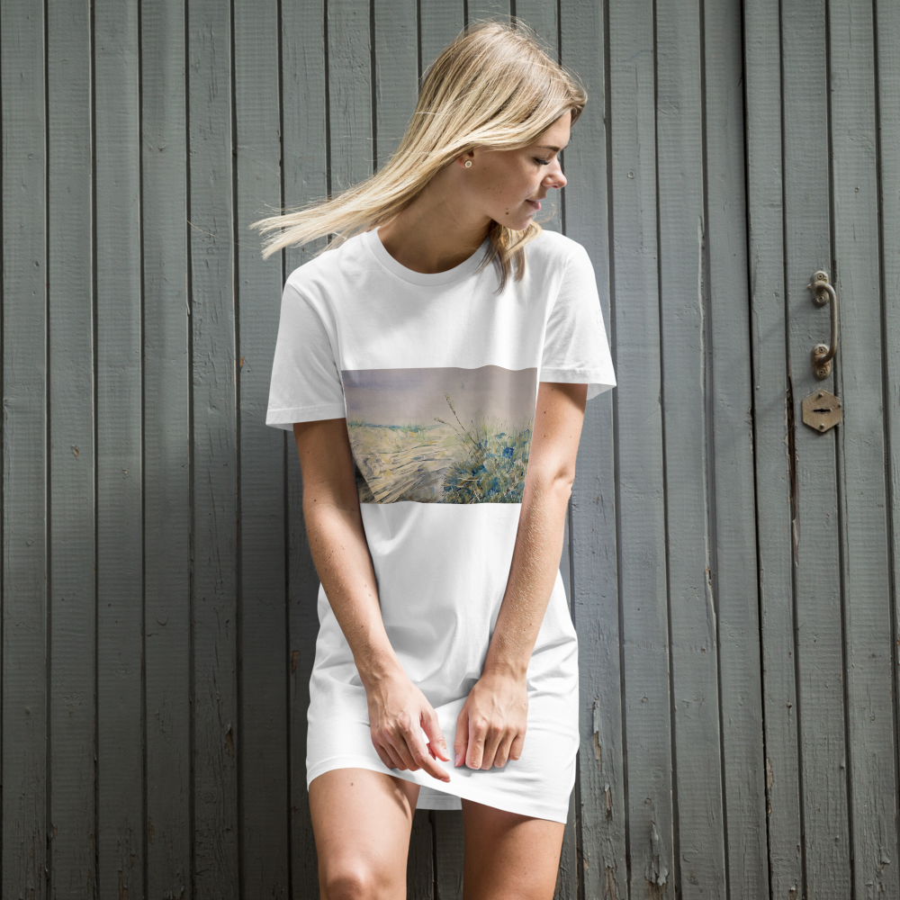 Organic Cotton T-shirt Dress - Day at the Beach