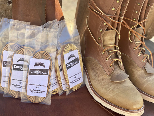 High Strength Leather Boot Laces - ChukStar Leather