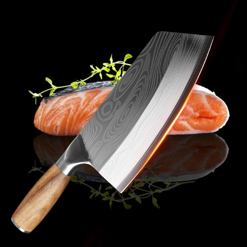 Razor Sharp Laser Pattern Chef Knife