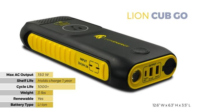 Lion Energy Cub GO 10W solar generator Solar wholesale DIY Kit