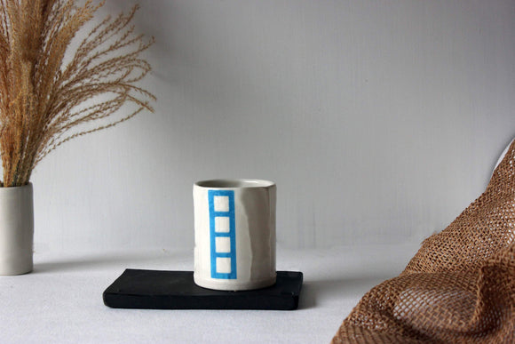 Coffee Tumbler, Ceramic Tumbler, Coffee Cup, Ceramic Espresso Cup, Cappuccino Cup - Yesha-Art