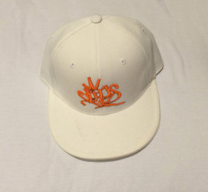 Clips Fitted - White/Orange