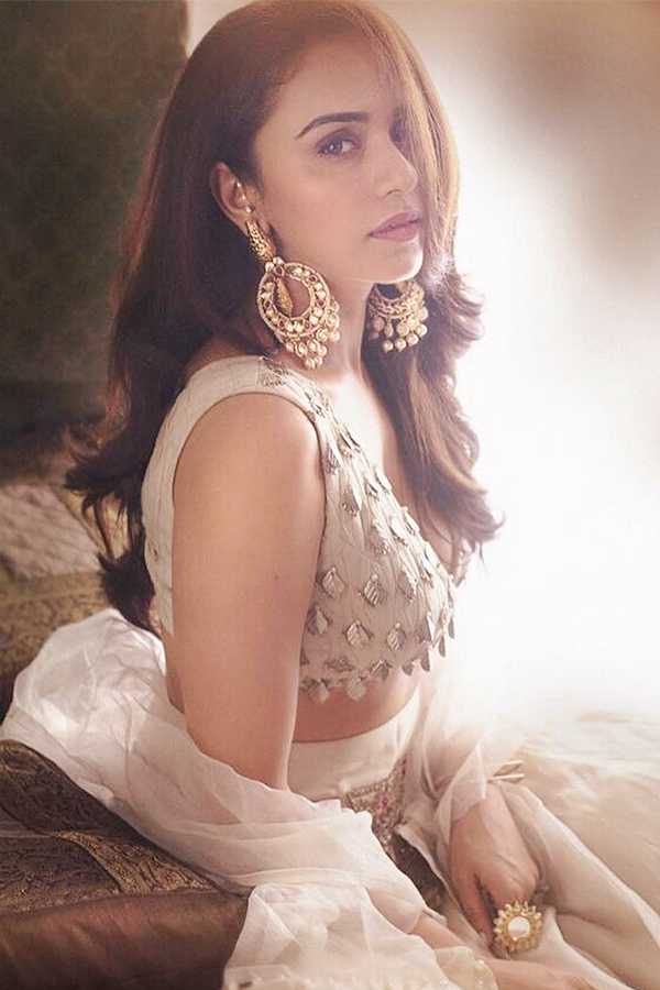 AMRUTA KHANVILKAR IN OUR IVORY LEHENGA