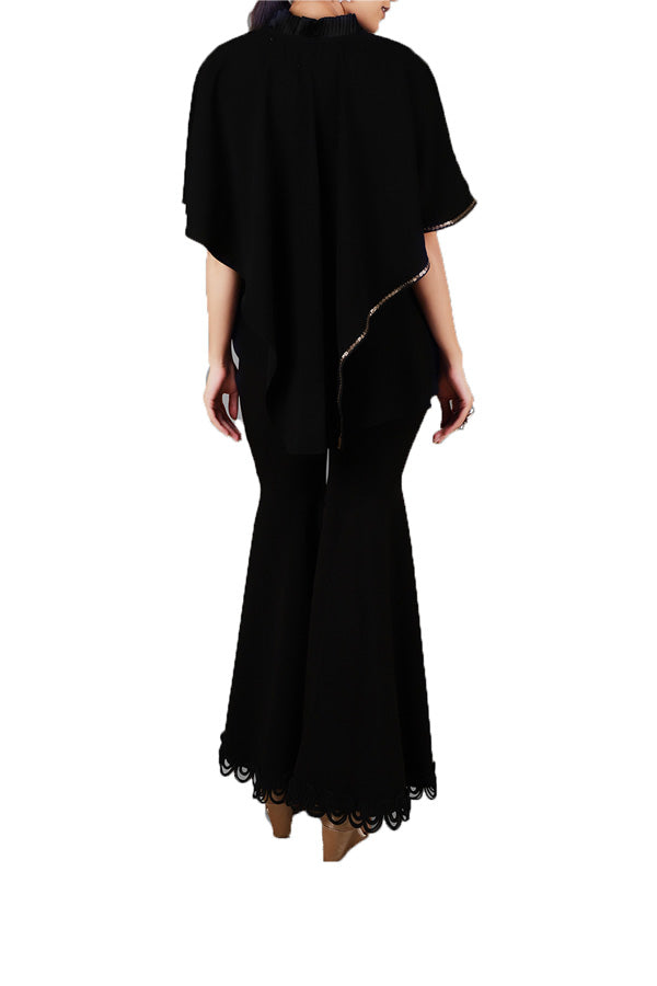 black-ruffled-kaftan-top-with-classic-pants