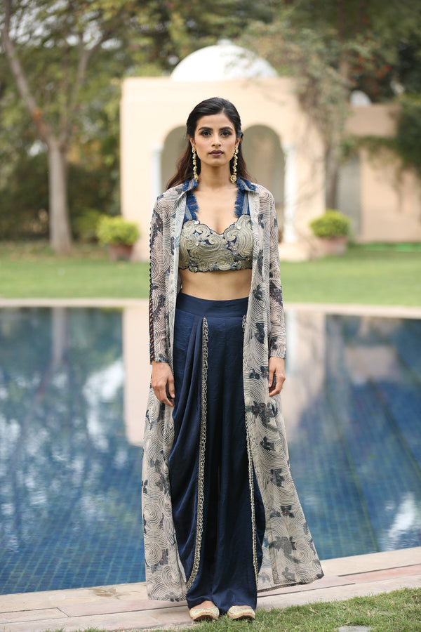 navy-blue-printed-jacket-with-embroidered-blouse-and-dhoti-pants