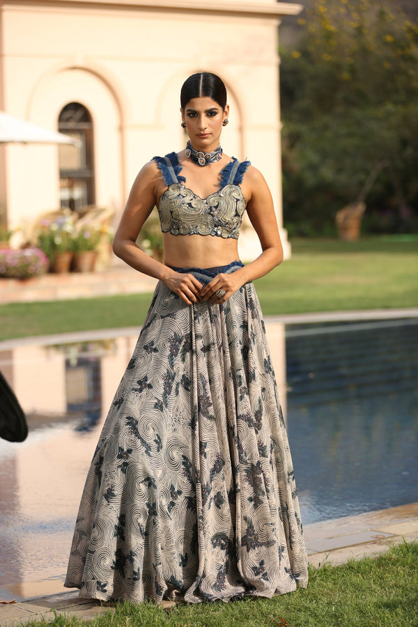 navy-blue-embroidered-blouse-with-printed-skirt