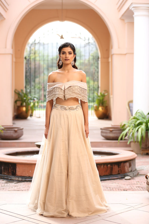 ivory-off-shoulder-layered-cape-with-skirt