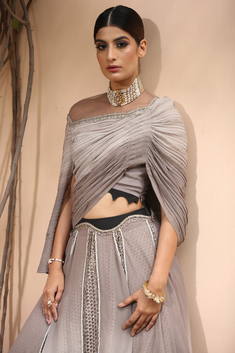 muted-grey-asymmetric-cape-top-with-layered-skirt