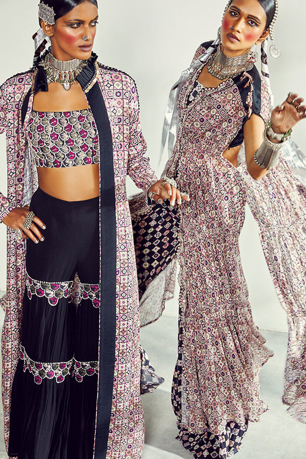 THE GEO GALA BOHOTRIBE BLACK JACKET SET (LEFT)