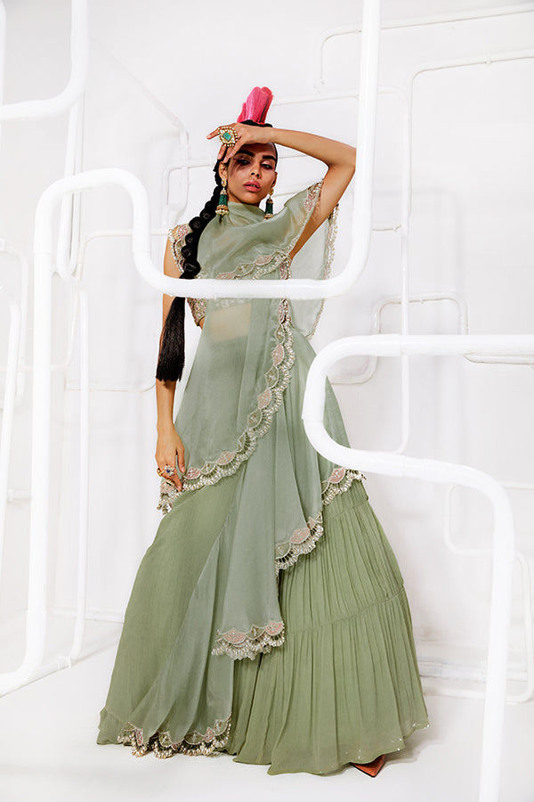 mint-green-pleated-skirt-saree