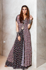 KRITI SANON IN OUR BOHO TRIBE PRINTED KAFTAN SET