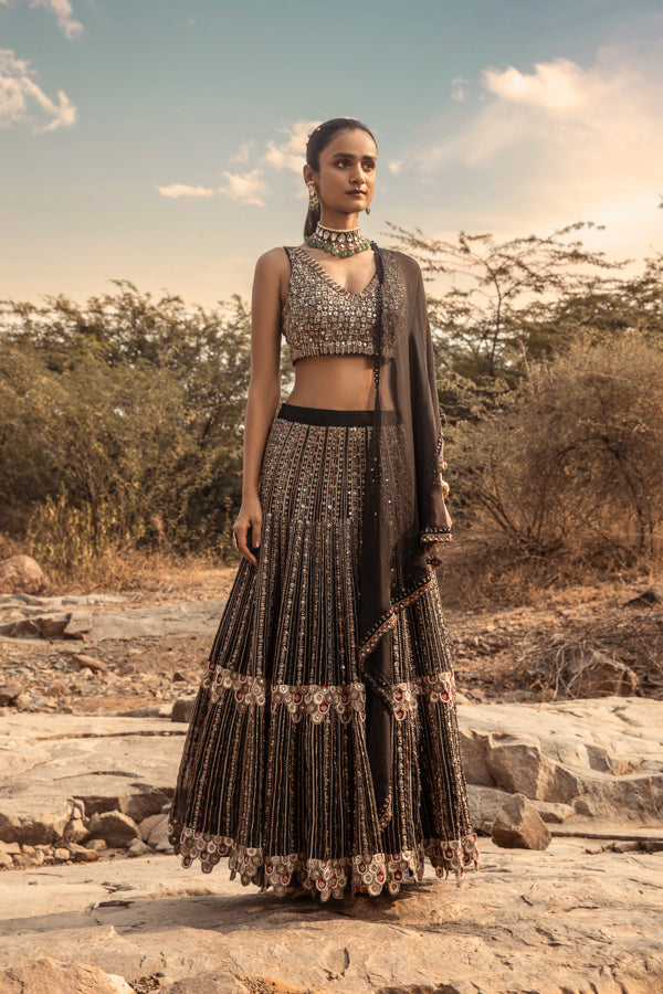 NOMADIC HEAVILY EMBROIDERED LEHENGA