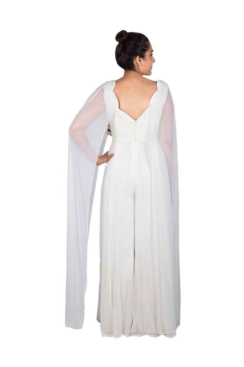 IVORY CAPE JUMPSUIT