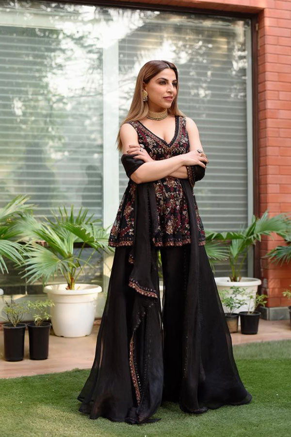 SUKRITI GROVER IN NOMADIC HEAVILY EMBROIDERED PEPLUM
