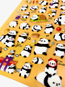 01004 Panda Puffy Sticker-12