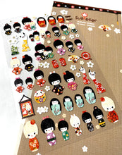 Load image into Gallery viewer, 01010 Kokeshi Korean paper Sticker-12