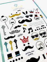 Load image into Gallery viewer, 01011 MUSTACHE Glitter Sticker-12
