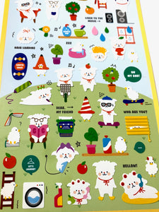 02006 Fluffy House Paper Sticker-12
