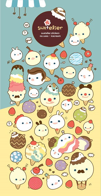 01002 Ice Cream Paper Sticker-12
