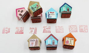 10070 LITTLE HOUSE WOODEN STAMPS-32