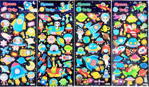 10130 NEON SPACE PUFFY STICKERS-20