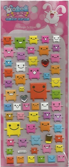 10242 HAPPY BLOCK CRYSTAL PUFFY STICKERS-12