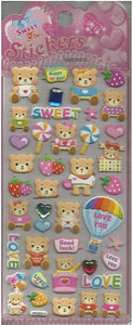 10252 SWEET BEAR CRYSTAL PUFFY STICKERS-12