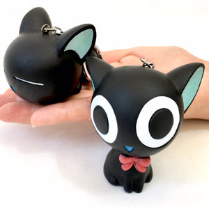 12019 BIG SOFT BLACK CAT CHARM-12