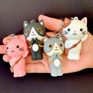 12026 SCHOOL CAT CHARM with keyring-12
