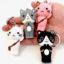 Load image into Gallery viewer, 12026 SCHOOL CAT CHARM with keyring-12