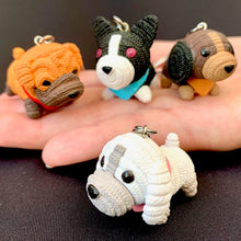Load image into Gallery viewer, 12027 KNITTED DOGS CHARM with keyring-12