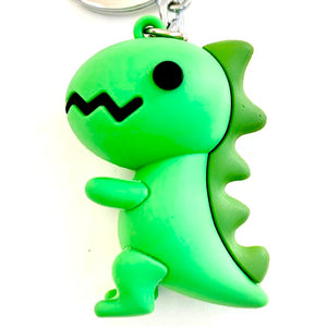 12028 GREEN DINOSAUR CHARM with keyring-12