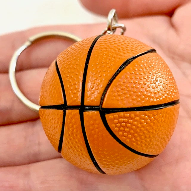 12038 BASKETBALL CHARM with keyring-12