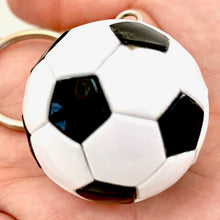 Load image into Gallery viewer, 12039 SOCCER BALL CHARM with keyring-12