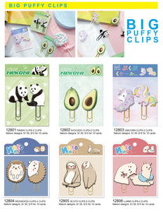 12805 SLOTH PUFFY CLIPS-2 CLIPS-10