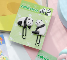 Load image into Gallery viewer, 12801 PANDA PUFFY CLIPS-2 CLIPS-10