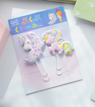 Load image into Gallery viewer, 12803 UNICORN PUFFY CLIPS-2 CLIPS-10