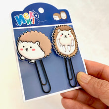 Load image into Gallery viewer, 12804 HEDGEHOG PUFFY CLIPS-2 CLIPS-10