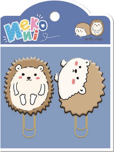 12804 HEDGEHOG PUFFY CLIPS-2 CLIPS-10